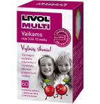Maisto papildas Livol Multi vaikams vyšnių skonio tabletės N60