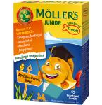 Maisto papildas Moller's Junior apelsinų - citrinų skonio kapsulės N45