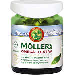 Maisto papildas Moller's Omega - 3 Extra kapsulės N76