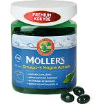 Maisto papildas Moller's Omega - 3 Magne Active kapsulės N100