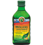 Maisto papildas Moller's žuvų taukai vaisių skonio 250ml