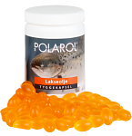 Maisto papildas Polarol Lašišų taukai apelsinų/citrinų skonio kramtomos kapsulės N100