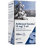 Ambroxol Sandoz 15mg/5ml sirupas 100ml