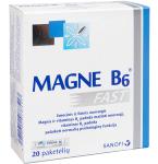 Maisto papildas Magne B6 Fast veinadoziai paketėliai N20