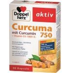 DOPPELHERZ aktiv Curcuma 750 kapsulės N30