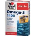 DOPPELHERZ aktiv Omega - 3 1400 kapsulės N30