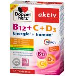 DOPPELHERZ aktiv B12+C+D3 DEPOT tabletės N30