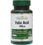 Natures Aid Folic acid 400mcg tabletės N90