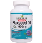 Natures Aid Flaxseed Oil 1000mg kapsulės N90