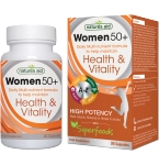 Natures Aid Women 50+ Daily Multi - nutrient formula kapsulės N30
