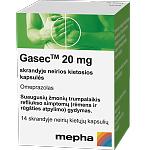 Gasec 20mg skrandyje neirios kietosios kapsulės N14