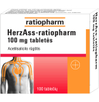 Herz ASS-ratiopharm 100mg tabletės N100