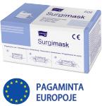 Kaukė medicininė 3 sluoksnių MATOPAT su elastinėmis juostomis nesterilios (CE) N50