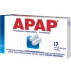APAP 500mg plėvele dengtos tabletės N12