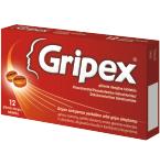 Gripex plėvele dengtos tabletės N12