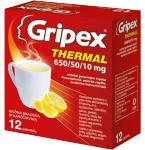 Gripex Thermal 650/50/10mg milteliai geriamajam tirpalui N12