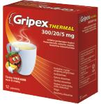 Gripex Thermal 300/20/5mg milteliai geriamajam tirpalui N12