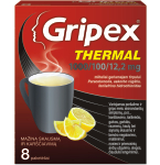 Gripex Thermal 1000/100/12.2 mg milteliai geriamajam tirpalui N8