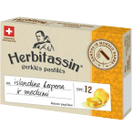Maisto papildas Herbitassin pastilės su islandine kerpena ir medumi N12