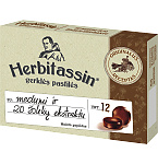 Maisto papildas Herbitassin gerklės pastilės su medumi ir 20 žolelių ekstraktu N12