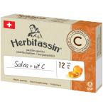 Herbitassin Salvia + vitaminas C gerklės pastilės N12