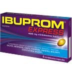 Ibuprom Express 400mg  minkštosios kapsulės N6