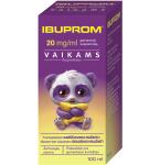Ibuprom 20mg/ml geriamoji suspensija vaikams 100ml ir geriamasis švirkštas (5 ml) N1