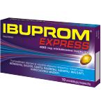 Ibuprom Express 400mg minkštosios kapsulės N10