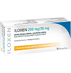 Iloxen 200mg/30mg plėvele dengtos tabletės N12