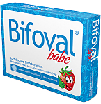 Maisto papildas Bifoval babe braškių skonio kramtomosios tabletės N25