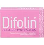 Difolin folio rūgštis 400mcg+Vitaminas D3 25mcg tabletės N60