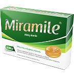 Maisto papildas Miramile mėtų skonio kietos pastilės N24