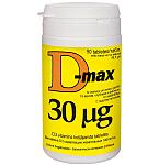 Maisto papildas D - MAX 30 mcg tabletės N90