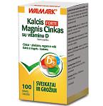 Maisto papildas Kalcis - Magnis - Cinkas FORTE su Vitaminu D3 tabletės N100