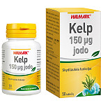 Maisto papildas Kelp jodas iš rusvųjų jūros dumblių 0.15mg tabletės N50