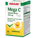 Mega C 600mg apelsinų skonio tabletės N30