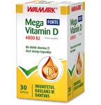 Maisto papildas Mega Vitamin D 4000 IU Forte kapsulės N30