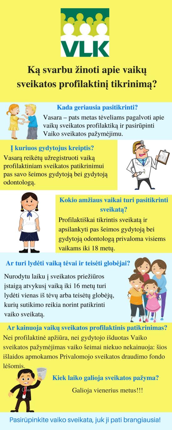 Vaikų profilaktinis sveikatos patikrinimas